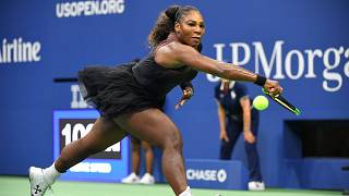 Serena Williams wins US open match in designer tutu following catsuit ban