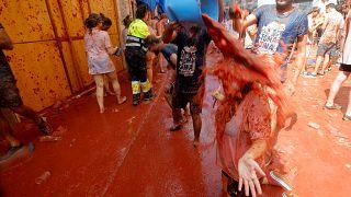 Watch: Tomato battle at Tomatina festival