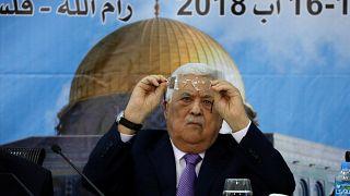 الرئيس الفلسطيني محمود عباس خلال اجتماعات المجلس المركزي في رام الله