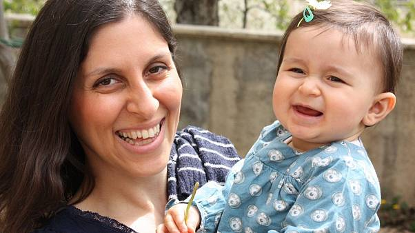 Nazanin Zaghari-Ratcliffe and daughter Gabriella before she was arrested