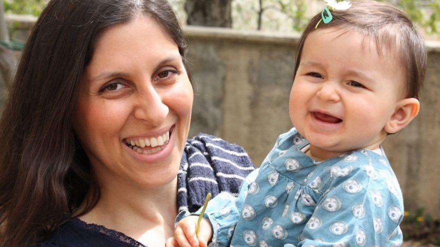 Nazanin Zaghari-Ratcliffe and daughter Gabriella before she was arrested