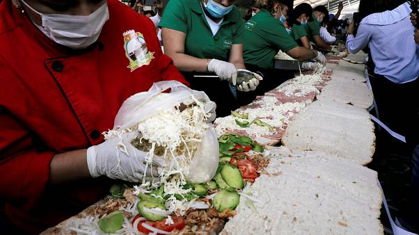 Watch: Mexico breaks record for largest torta sandwich