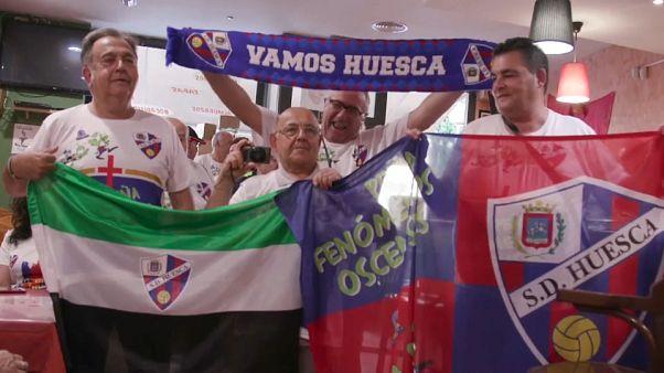 Adeptos do Huesca sonham com surpreender o Barcelona
