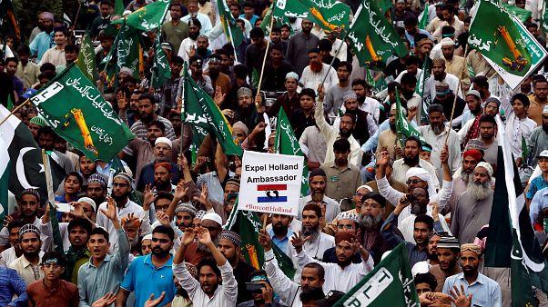 10.000 protestieren gegen Wilders' Mohammed-Karikaturen-Pläne