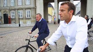 La balade cycliste d'Emmanuel Macron