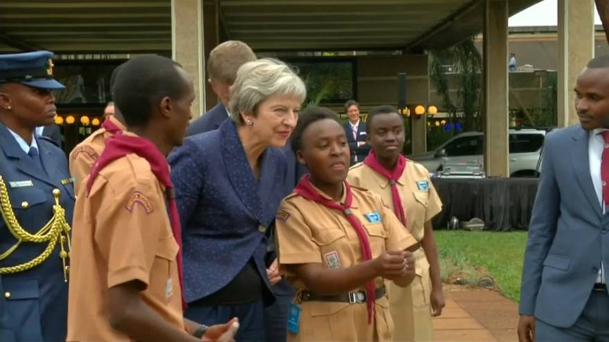 May seeks Brexit boost from Africa trip