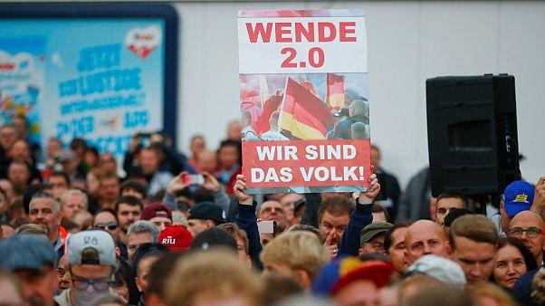 """""""Nós somos o povo"""", lia-se num cartaz do protesto de quinta-feira"""