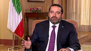 الحريري خلال مقابلته الحصرية مع يورونيوز