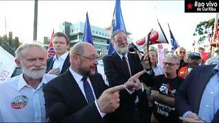 Martin Schulz visita Lula da Silva na prisão