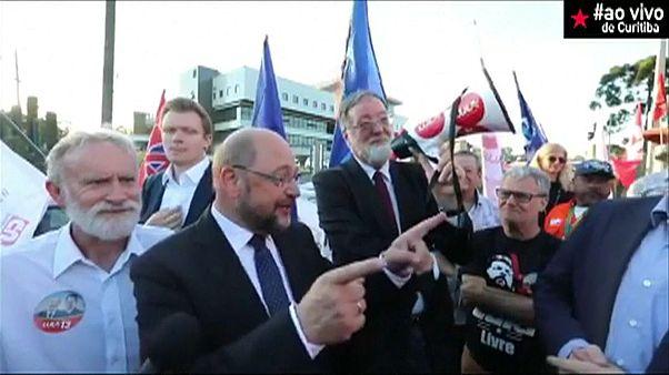 SPD-Schulz (62) bei Lula (72): heikles Treffen im Gefängnis