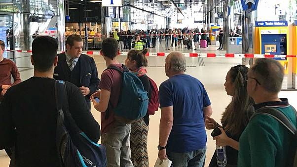 Two injured in stabbing at Amsterdam railway, Dutch police shoot suspect