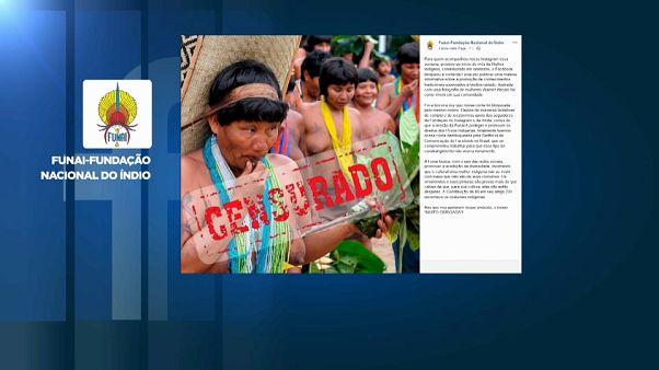 Facebook bloquea la cuenta de la FUNAI por unas fotos de indígenas desnudas