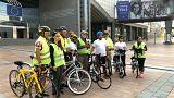 Engelli haklarını savunmak için İstanbul'dan Brüksel'e 4 bin km pedal çevirdiler