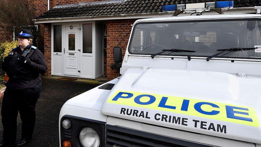 UK police near the home of Sergei Skripal in Salisbury, in March 2018.