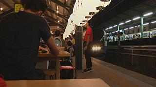 Watch: Pop-up restaurant on abandoned train platform in Tokyo
