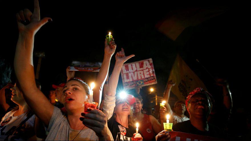 اعتراض هواداران لولا داسیلوا به رای محرومیت وی از نامزدی انتخابات