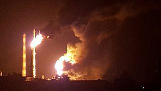 Großbrand  bei Ingolstadt: Katastrophenalarm, 8 Verletzte und  riesige Rauchwolke