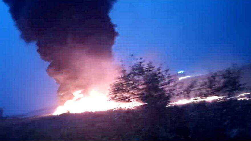 هواپیمای مسافربری هنگام فرود در فرودگاه سوچی آتش گرفت