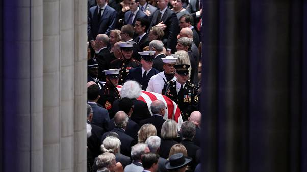 Senator John McCain honoured at Washington service