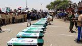 Funeral de los niños asesinados en un ataque aéreo Saada (Yemen) 13/08/18
