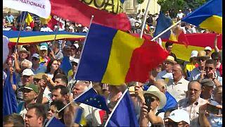 Moldova'da Romanya ile birleşmek için gösteri