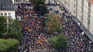 آلمان، ۹ زخمی در پی رویارویی راست افراطی با مدافعان حقوق پناهجویان