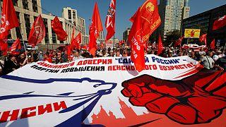 Milhares de russos protestam contra reforma das pensões