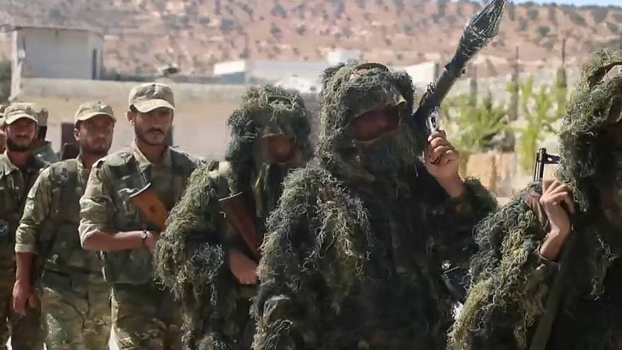 فيديو: تدريبات قوات سورية معارضة استعدادا لمعركة إدلب