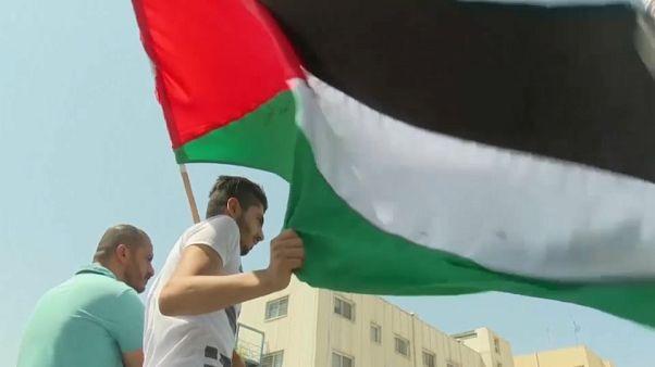 Protestos contra fim do financiamento da agência para refugiados palestinianos da parte dos EUA