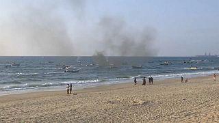 Activistas palestinos desafían el bloqueo israelí por mar