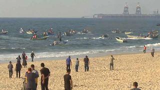 Proteste gegen Seeblockade vor Gazastreifen