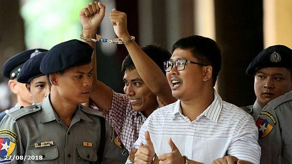 Sept ans de prison pour les deux journalistes birmans