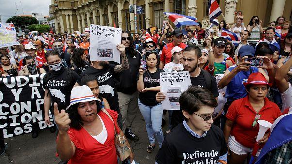 Nueva protesta en Costa Rica contra la llegada de nicaragüenses