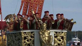 Venedik'in 13. yüzyıldan beri yapılan tarihi Regata Storica yarışları
