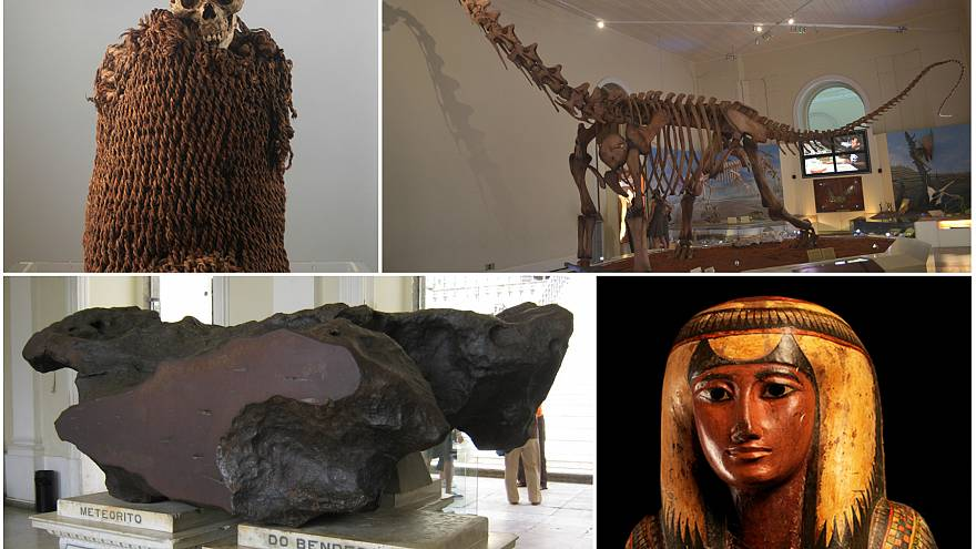 10 tesoros dentro del Museo Nacional de Brasil, arrasado por un incendio