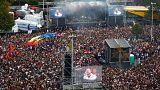 Koncert a rasszizmus ellen Chemnitzben