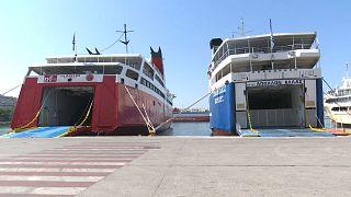 Забастовка греческих паромщиков