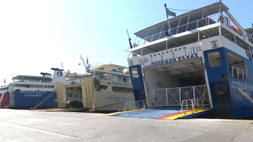 Greve dos ferries na Grécia
