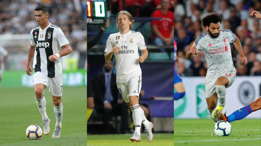 Cristiano Ronaldo, Modrić y Salah son los finalistas del premio 'The Best'