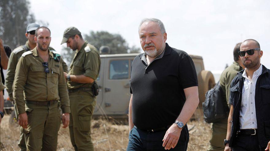 وزير الدفاع الاسرائيلي أفيغادور ليبرمان خلال زيارته لهضبة الجولان المحتلة