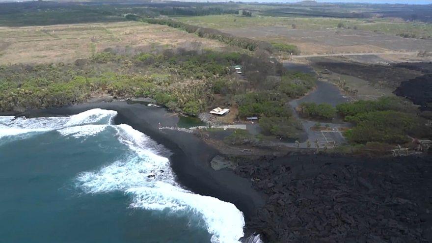 تصاویری از تغییرات زیست محیطی در هاوایی پس از فوران آتشفشان