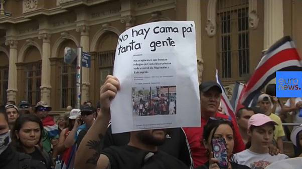 costa ricans protest against Nicaraguan migrants