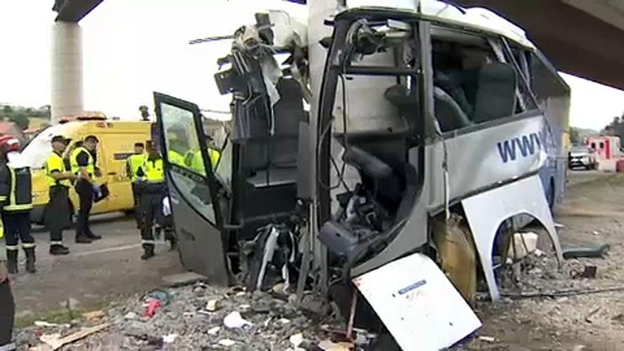 Tragikus buszbaleset Asztúriában