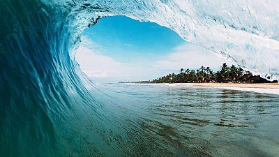 Monster waves surfer