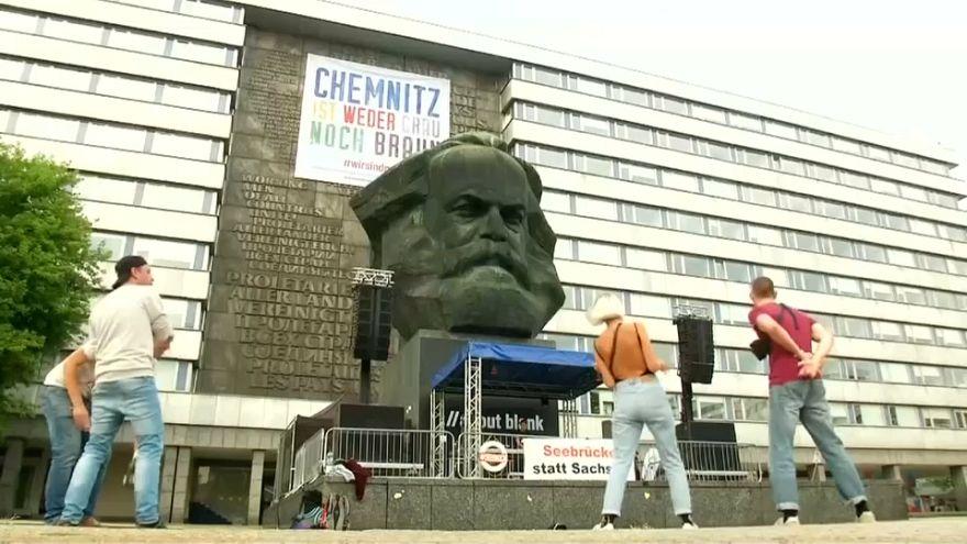 Multitudinario concierto antirracista en Chemnitz