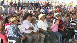 Concentración de Xincas contra la canadinense San Rafael