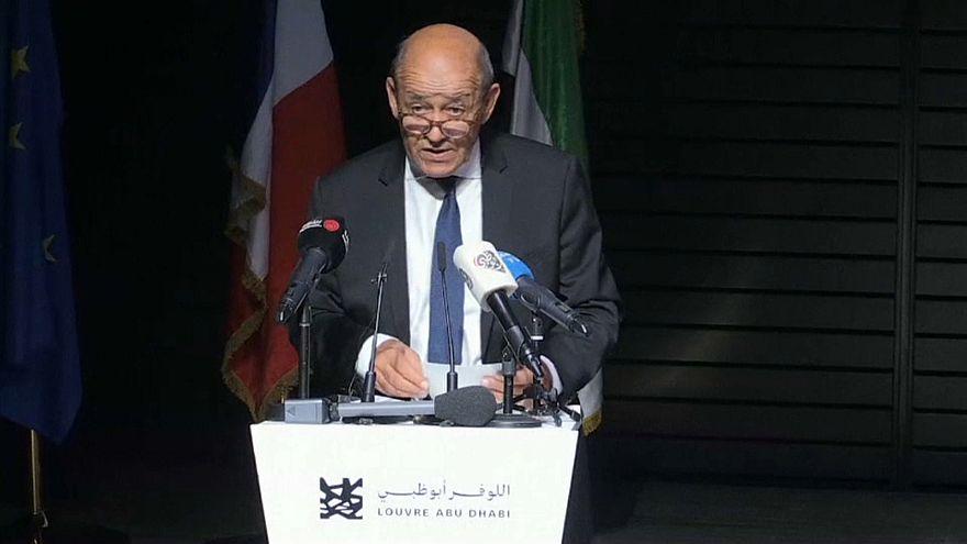 وزير الخارجية الفرنسي في متحف اللوفر أبو ظبي
