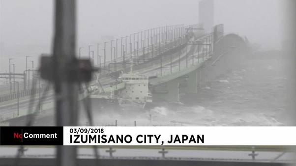 Japan: Typhoon Jebi makes landfall in Tokushima prefecture