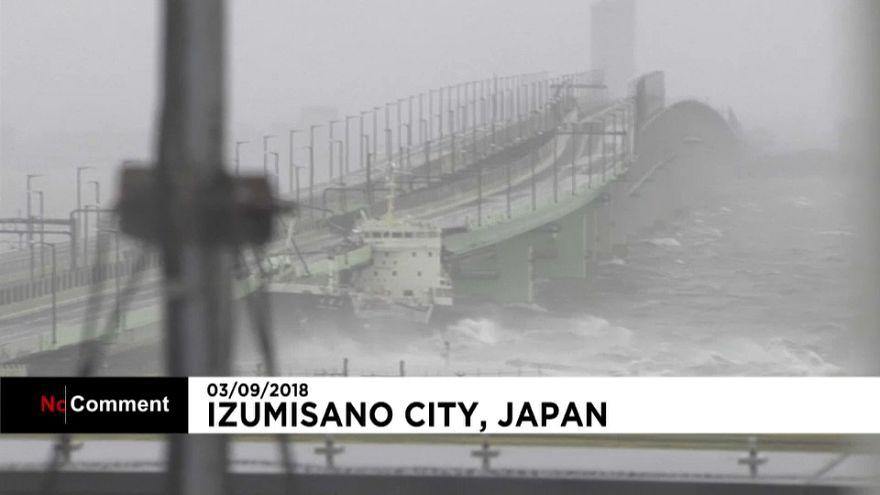 Japan: Typhoon Jebi makes landfall in Tokushima prefecture