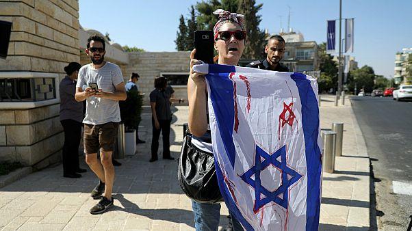 مظاهرات في إسرائيل احتجاجا على زيارة الرئيس الفلبيني دوتيرتي